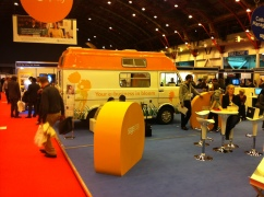 Sage stand at Business Start Up 2011, Earls Court