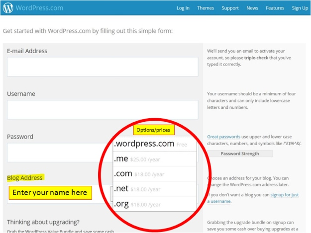 WordPress blog address finder